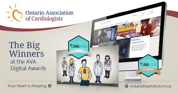 The Ontario Association of Cardiologists is honoured to have won multiple awards at this year's AVA Digital Awards.