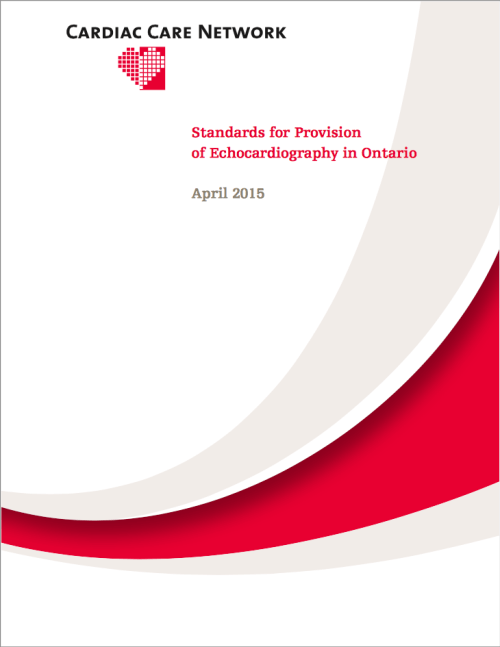 CCN Standards for the Provision of Echocardiography in Ontario 2015